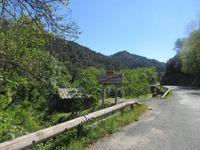 Petite déception arrivée à Ste Croix Vallée Française où on apprend que l'on ne pourra continuer à cause d'un rallye auto !