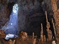 Les stalagmites de l'aven d'Orgnac