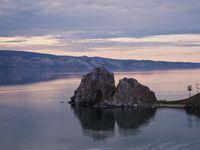 Coucher de soleil sur le Baïkal