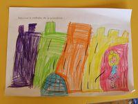 Je dessine le chateau de la princesse ou du chevalier.