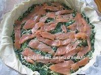 Tourte aux épinards et au saumon fumé