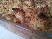 Galette des Rois végétalienne - Galette des Rois végétalienne à la poire et au chocolat - Crumble pommes-poires-choco.