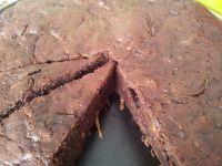 Gâteau au chocolat et à la courgette.