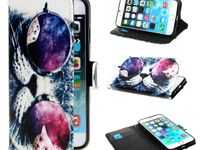 Coques Iphone 6 DeinDesign / Coque Kabiloo / Etui portefeuille cool cat Ivencase