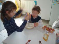 La préparation de la pâte...