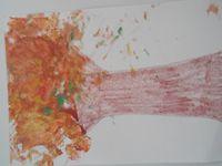 peinture à la pince à linge.