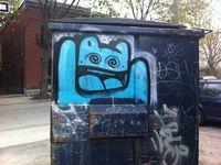 Les graffitis d'El Moot Moot.