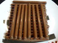 Barres de chocolats maisons