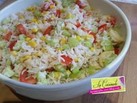 Salade de Riz Végétarienne
