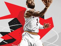 Kyrie Irving en couverture de NBA 2K18