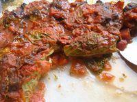 boulettes légères en feuille de chou,sauce tomate