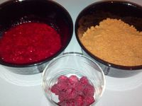 Verrines spéculoos/framboises et tiramisu café