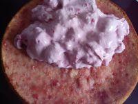 Gâteau à la crème mousseline de framboises et ganache au chocolat