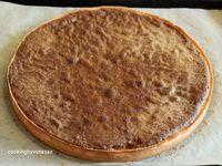 Tarte à la framboise, mousse au miel et crème de pistache