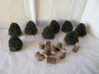 Petits arbustes déco table noël  à base de récup'  - 2 TUTOS