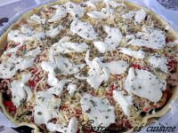 Tarte d'aubergines grillées, Thon et Mozzarella