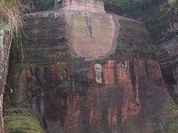 Le Grand Bouddha de Leshan, Pagode Lingbao, Chine, Sichuan