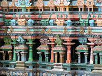 Le temple de Mînâkshi, Madurai, Tamil Nadu, Inde