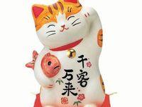 Maneki-Neko, chat porte-bonheur, Histoire, Légende, Japon
