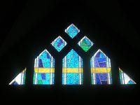"""""""La Trinité"""" - Rocella - Vitraux à Issy les Moulineaux : le Père, le Fils, le Saint-Esprit"""