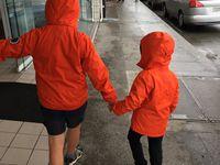 Il pleut mais nous gardons le sourire !