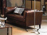 Maisons du Monde Canapé en cuir marron modèle Prescott