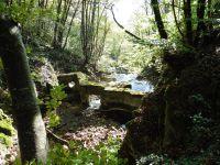 Le chemin d'accès longe le ruisseau d'Alloix jusqu'à la Grande Cascade.