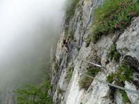 Un passage assez déversant le long de la falaise.
