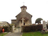 A Bourdeau, l'église, le chateau et le port.