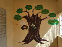 Visite du poste de santé de Ngekhokh, localité voisine où un chantier s'était fait il y a quelques années : rénovation d'une salle qui à ce jour accueille des ados qui souhaitent parler des problèmes de santé ou participer à des séances d'information sur la sexualité, les grossesses précoces, les MST