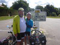 Quelque efforts pour arriver au Col de Limouche, avec un passage à 17% !!! Le Vercors, c'est assez difficile pour les cyclistes.