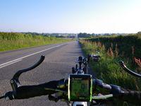Petit matin, vers 8h30 et les dernières photos, dans le centre de Laval, le long de la Mayenne, très joli...