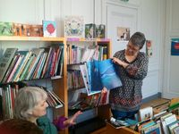 Les 5°C sont allés à la découverte de la médiathèque jeudi 02/02/2017 avec Mme Chauvin et Mme Piller