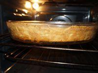 la coloration du plat en fin de cuisson doit être homogène dessus, sur les bords, comme en dessous