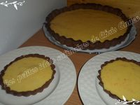 Tarte orange chocolat meringuée