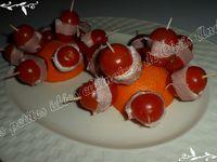 Bouchons de tomate au jambon et fines herbes