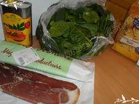 Pâtes d'Alsace aux épinards frais et jambon sec