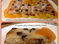 Gâteau amandine aux abricots et pépites de chocolat
