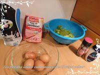 Quiche brocoli et allumettes de jambon fumé