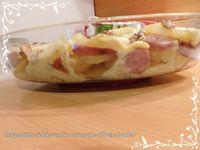 Gratin de saucisses de Montbéliard à la raclette