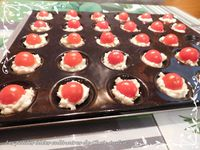 Bouchées de Roucoulons à la tomate