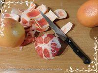 Salade de pamplemousse et crevettes fraîches