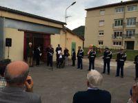 Cérémonie du 2 juin 2014 dans la cour d'honneur de la Gendarmerie de Saint-Affrique.