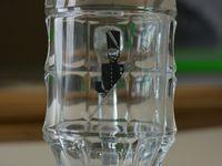 Photos : MG - 27 juillet 2015. Bock en verre conservé à la Société d'histoire d'Aniche  &#x3B; bock en porcelaine : collection Pouille