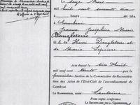 Actes de naissance, de mariage et de décès de la famille Lehuraux - Archives départementales du Nord.