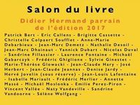 L'affiche du 6e Salon du Livre du 8 avril 2017 organisé par l'association SINergies à Sin-le-Noble.
