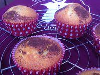 Petits muffins marbrés au chocolat noir Fleur de Sel .