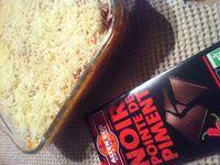 Lasagnes bolognaises  maison sauce  au chocolat noir pointe de piment équitable tomate basilic .