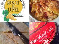 Ma tartiflette revisitée ( Pelardon , Reblochon , Pommes de terres sautées maison flambées au Muscat de Lunel ) .