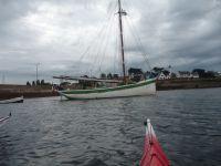 Avec une rencontre des voileux à Port Navalo, juste au moment de leur départ